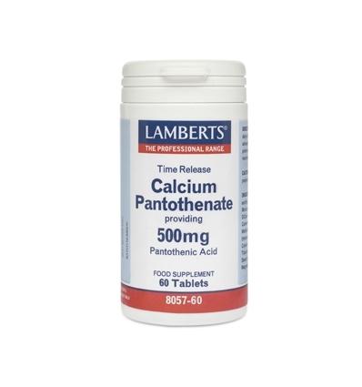 Calcium Pantothenate 500mg (Vitamin B5) - 60 Time Release Tablets - Lamberts
