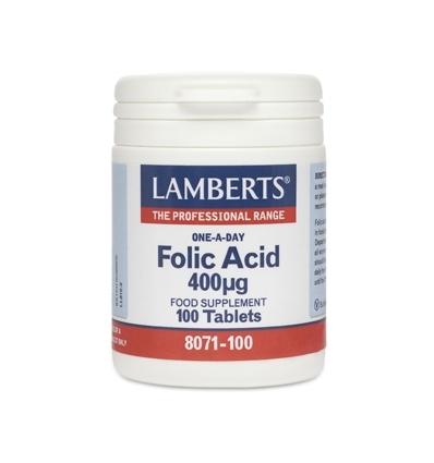 Folic Acid 400ug (Vitamin B9) - 100 Tablets - Lamberts