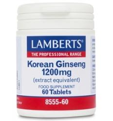 Korean Ginseng 1,200mg - 60 Capsules - Lamberts