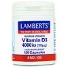 Vitamin D3 4000iu (1000mcg) - 120 Capsules - Lamberts
