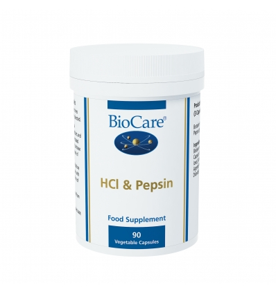 HCl & Pepsin (Betaine) - 90 Vegetable Capsules - BioCare®