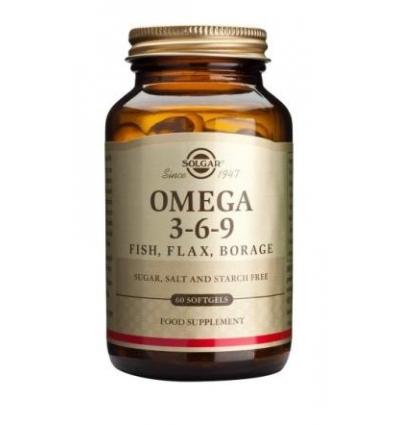 Omega 3-6-9 Fish, Flax, Borage Softgels - Solgar