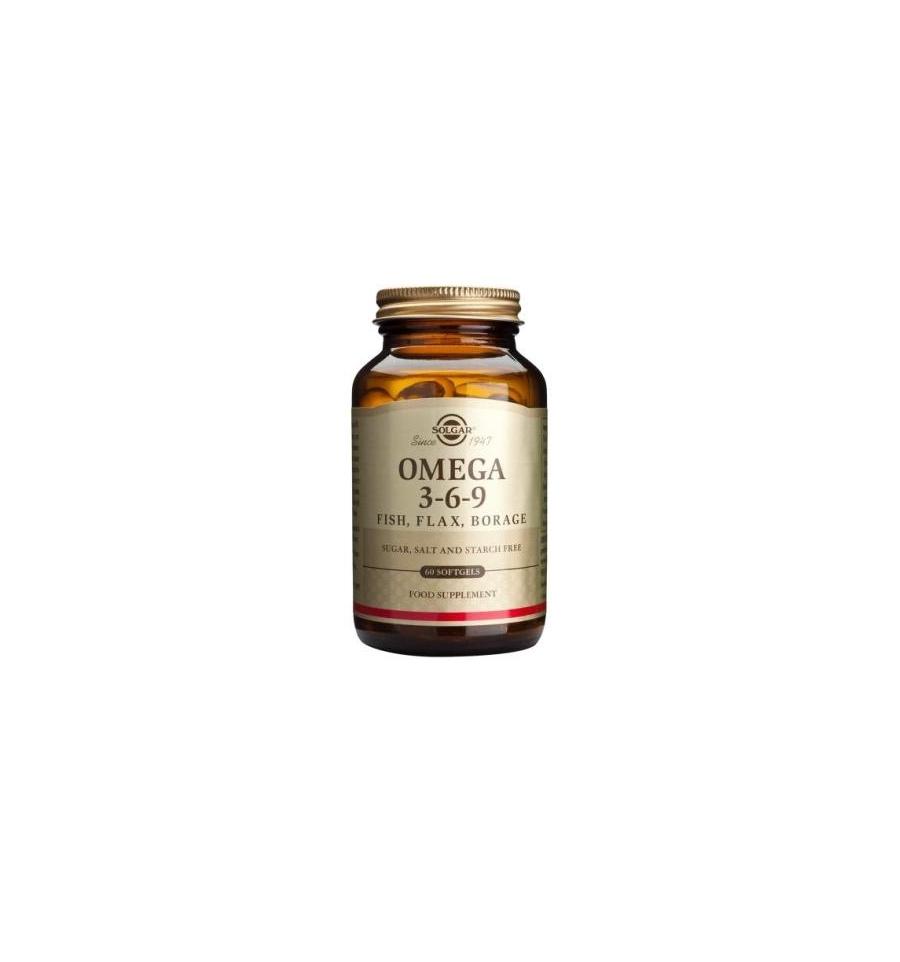 Omega 3 6 9 fish flax borage softgels solgar for Fish flax borage oil