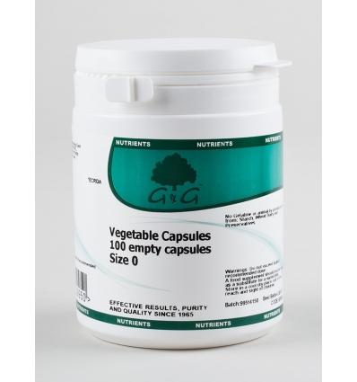 Empty Vegetarian Capsule Casings - 100 - G & G