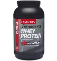 Whey Protein plus Magnesium - Vanilla Flavour Powder - 1000gms - Lamberts® Performance