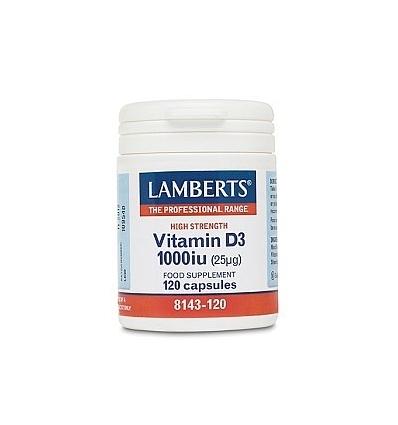 Vitamin D 1,000iu (Vit D3-25µg) - 120 Capsules - Lamberts