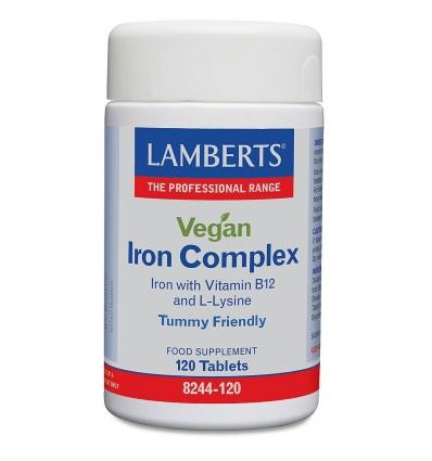 Vegan Iron Complex (Bisglycinate) - 120 Tablets - Lamberts
