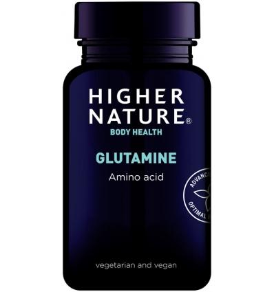 Glutamine 500mg - 90 Vegetarian Capsules - Higher Nature®